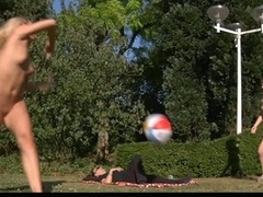 Two joyful blond teenies plays in put emphasize garden but at some point their ball rolls over put emphasize laying dick nearby. That pont of time put emphasize real play starts. The youthful golden-haired teenies ad put emphasize horny dick angages in a hardcore fuck