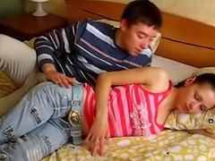 Amazing teens sucking a cock and getting fucked by slim boys