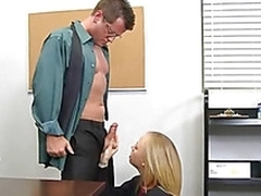 Stormy schoolgirl is giving teacher a lusty blowjob