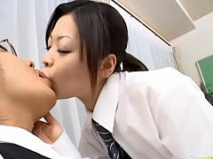 Japanese whore is double permeated and cum overspread on web camera