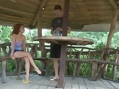Sex crazed teen loves to fuck apart from the lake