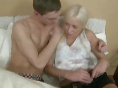 Babe performs fellatio and acquires banged in doggy style.