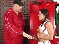 Schoolgirl acquires a stormy hardcore fuck from her teacher