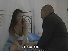 Horny stag shows his virgin gf pleasures of adult life