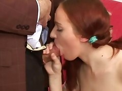 Chick is getting her vagina ravished by teacher on the ottoman