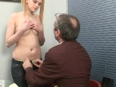 Horny old teacher is humping playgirl's constricted anal tunnel